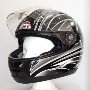 Integrální helma JEB's - černo-šedá