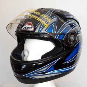 Integrální helma JEB's- modro-černá