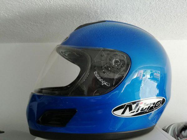 Integrální helma na motorku - Nitro - modrá