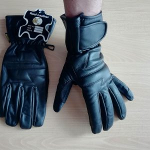 Kožené rukavice na motorku - unisex