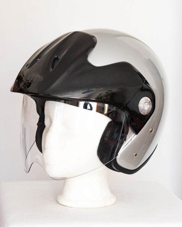 Otevřená helma na skútr - Zeus stříbrná