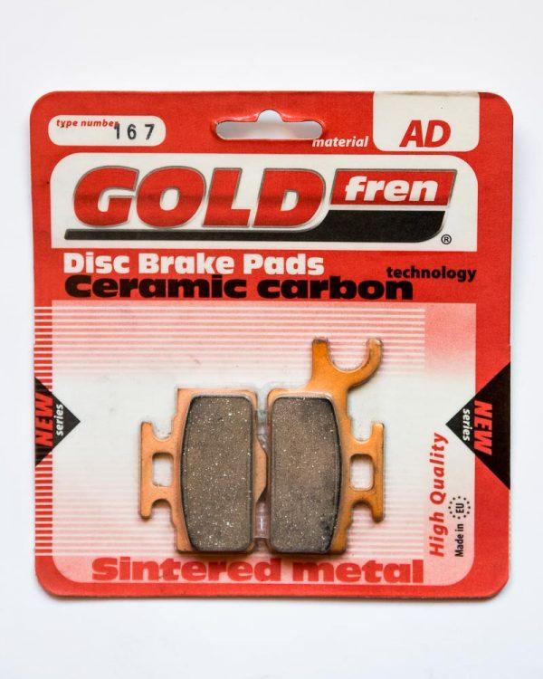 Brzdové destičky Goldfren 167 AD