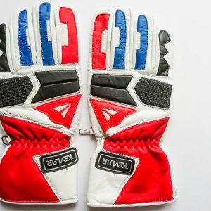 Dlouhé kožené rukavice Kevlar