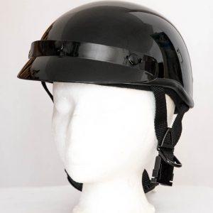 Helma Braincap se štítkem - černá lesklá