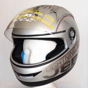 Integrální helma Jeb's Lightning Speed - stříbrná