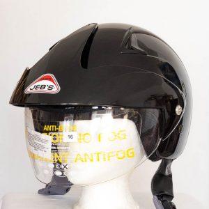 Otevřená helma na skútr - Jeb's černá lesk
