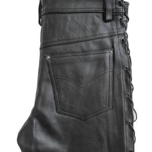 Kožené kalhoty Brixton se šněrováním