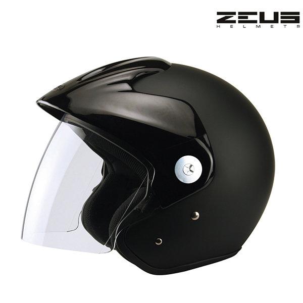 Otevřená helma na skútr - Zeus černá