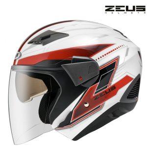 Otevřená helma Zeus White/Red