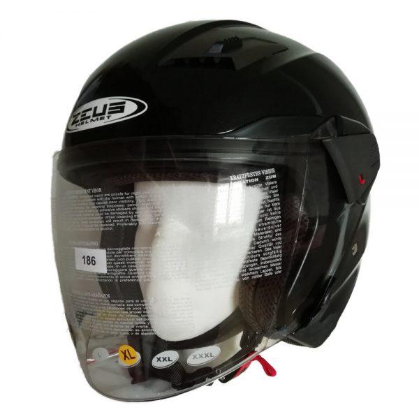 Otevřená helma Zeus ZS-611 Metallic Black
